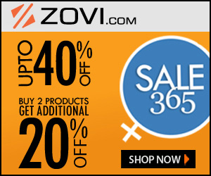 ZOVI. Upto 40% plus upto 20% discount Sale 365