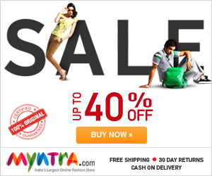 10% discount on minimum purchase of Rs 999 on Myntra