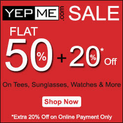 Flat 50% + 20% OFF on online payment